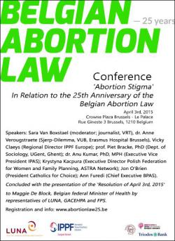 VUB Conference 25 years of Belgian Abortion Law