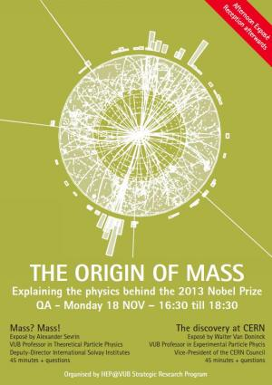 VUB afternoon exposé about the origin of mass