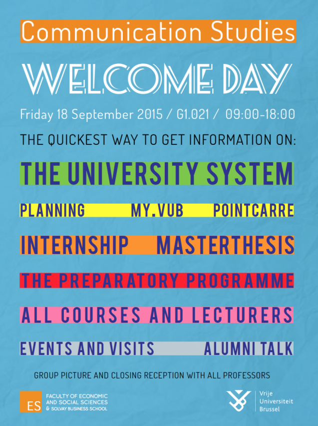 Poster welcome day