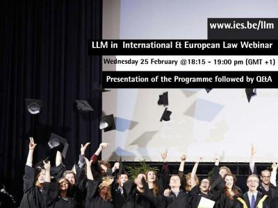 LLM in International and European Law Webinar