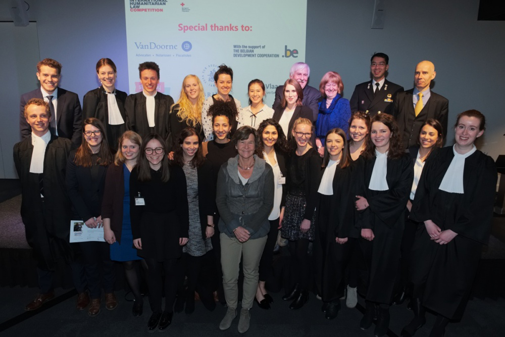 Participants in the 2018 Frits Kalshoven Competition for International Humanitarian Law - (c) Peter Busscher